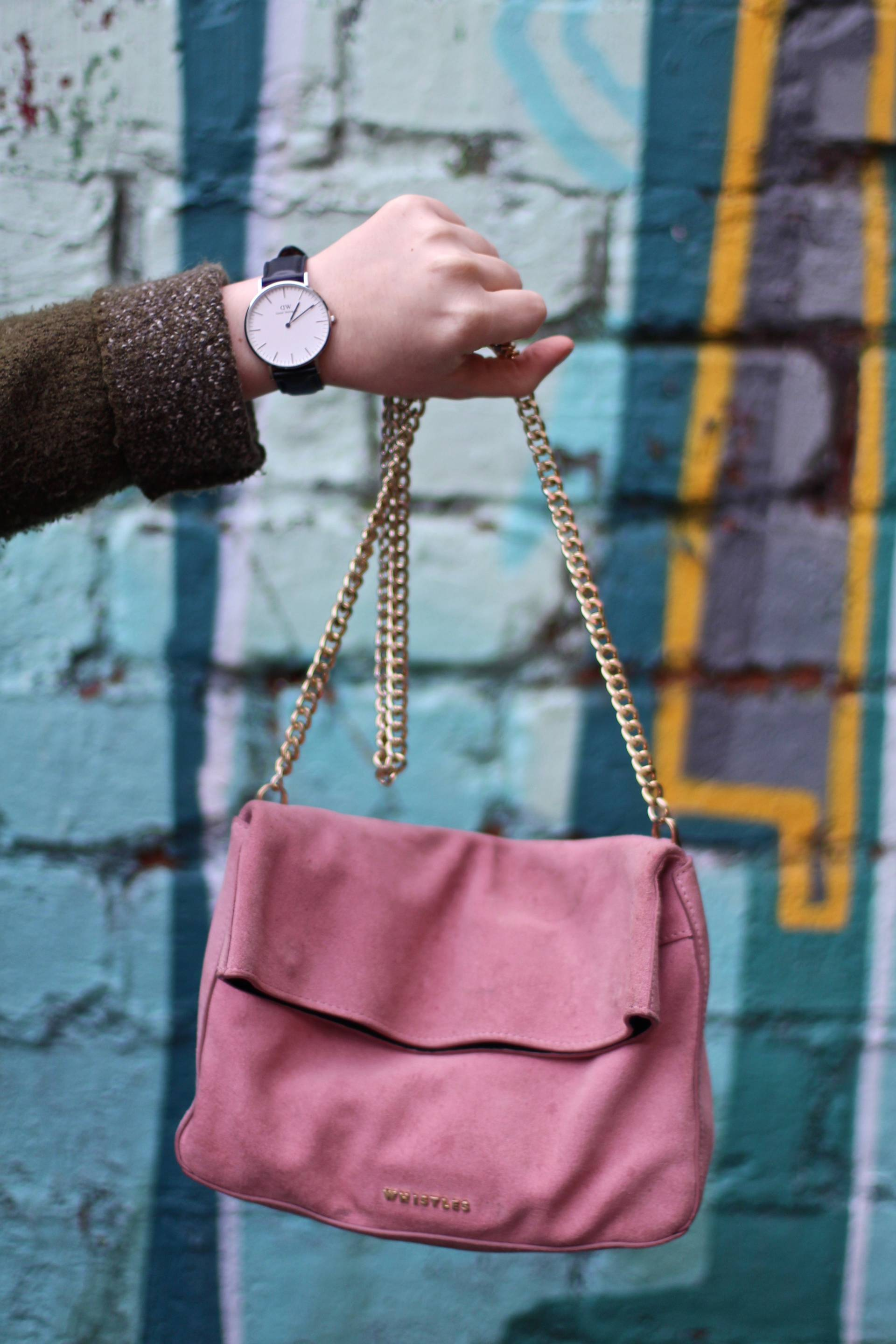 Whistles chain bag and daniel wellington watch